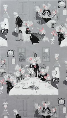 Fabric design. Alexander Henry Collections - A Ghastlie Night in Smoke