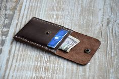 Mens wallet Mens custom Wallets for men Front Pocket от Handor