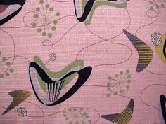 Midcentury Curtains, Pattern Recognition, Mid Century, Textiles, Kids Rugs, Wallpaper, Fabric, Pink, Notebook