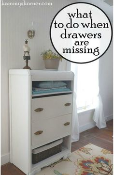 This is a wonderful idea for making over a dresser when it's missing drawers ~ so smart!