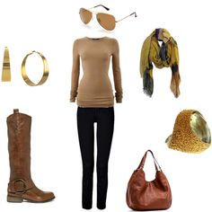 Any outfit with aviators, jeans, boots & a scarf.. I'm in.