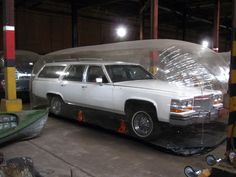 1987 Cadillac Brougham wagon A prototype made at the factory to show production capability. The idea was scrapped and the car donated to the Detroit Collections Resource Center.