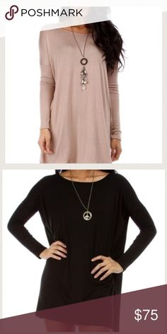 Off the shoulder Top Bundle Great soft fabric. Only worn once. Cute and super fashionable. Goes with jeans or leggings. Trendy Tops Tees - Long Sleeve