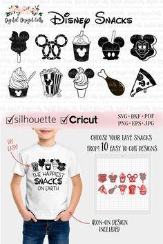 Disney Snacks SVG, The Happiest Snacks on Earth Ironon, DIY Disney Shirt, Mickey Ice cream SVG, Disney Food Shirt, Disney Snacks Shirt