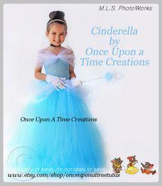 Cinderella Inspired Princess Tutu Dress - Birthday Outfit, Photo Prop, Halloween Costume - 12M 2T 3T 4T 5T - Disney Cinderella Inspired