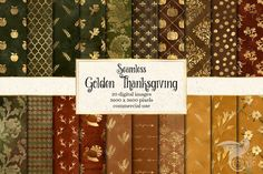 Thanksgiving Digital Paper Patterns by Digital Curio on Thanksgiving Graphics, Thanksgiving Background, Vintage Thanksgiving, Graphic Design Pattern, Graphic Patterns, Cool Patterns, Pattern Paper, Paper Patterns, Image Clipart