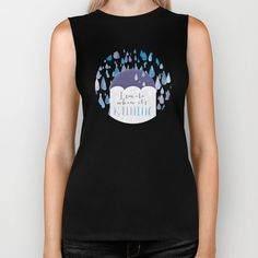 I Smile When It's Raining Biker Tank by Noonday Design - $28.00