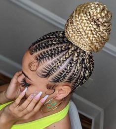 Box Braids Hairstyles, Braided Ponytail Hairstyles, Braided Hairstyles For Black Women, Braids For Black Hair, African Hairstyles, Braid Ponytail, Protective Hairstyles, Cornrows Updo, Braided Buns