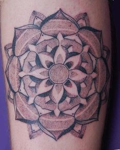 Dotwork mandala for Alistair. Tattooed by Dotwork Damian at The Blue Dragon Tattoo Studio, Brighton. UK