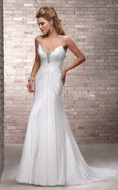 Mermaid Chiffon Beach Wedding Dress