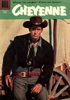 """Clint Walker (Norman Eugene Walker) Walker is a retired actor, best known for his television role as """"Cheyenne Bodie"""" in the ABC Vintage Comic Books, Vintage Tv, Vintage Comics, Tarzan, Cheyenne Bodie, Mejores Series Tv, Slow To Anger, Western Comics, Tv Westerns"""