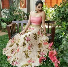 Beat this hot summer with hot floral crop top look for Only For BuyPlace An Order Or Inquiry: WhatsApp Us : Us. Cash On Delievery Avilable In India ! Lehenga Choli Wedding, Pakistani Lehenga, Floral Lehenga, Bollywood Saree, Indian Bollywood, Best Party Dresses, Girls Party Dress, Nice Dresses, Girls Dresses