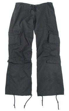 Rothco Black Vintage -reisitaskuhousut. XL.