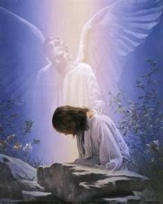 An Angel of Mercy came to Jesus in the Garden of Gethsemene