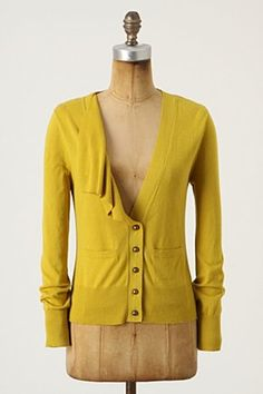 I love the half-draped front of this and the mustard color!