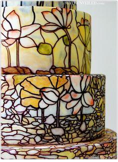 stained glass wedding cake by maggie austin cake #maggieaustincake