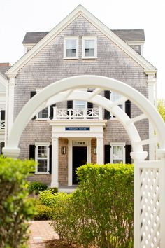 New England Style, Nantucket, shingle style, lattice, arbor, residence, seaside, coastal living