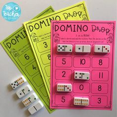 domino drop addition game