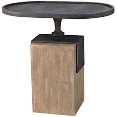 Furniture::Accent Tables::Blackened Iron Top Accent Table
