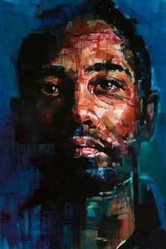 """Saatchi Art is pleased to offer the painting, """"Thirteen,"""" by Andrew Salgado. Original Painting: Oil on N/A. L'art Du Portrait, Abstract Portrait, Portraits, Portrait Paintings, Art Paintings, Figure Painting, Painting & Drawing, Arte Inspo, Colossal Art"""