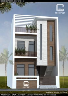 Saved by radha reddy garisa House Outer Design, Single Floor House Design, Simple House Design, House Front Design, 3 Storey House Design, Bungalow House Design, House Plans Mansion, Modern House Facades, Model House Plan