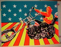 Easy Rider ~ Vintage Black Light Posters   Details about vintage Large SUPER CYCLE Peter Fonda Blacklight POSTER