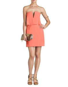 BCBG Women's Clothing   Party/Cocktail   Kate Strapless Popover Dress   Lord and Taylor