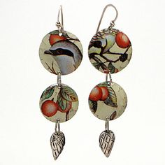 Sweet Bird Studio Scrap Tin Wing Earrings at Maverick Western Wear