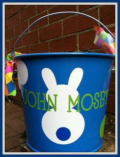 Personalized Easter Bucket Monogrammed Easter by ChicMonogram, $22.00