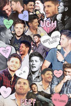 Tumblr collage of Jensen Ackles.