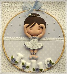 hooped little ballerina in fabric and felt...would be so cute for Emma