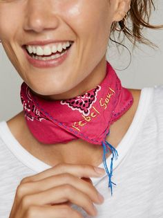 322324a2b Word is Bond Embroidered Bandana at Free People Clothing Boutique