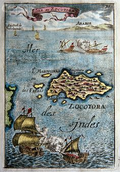 Isle of Zocotora Map (Socotra) Vintage Maps, Antique Maps, I Think Map, Socotra, World History Lessons, Old World Maps, Map Globe, Rich Image, Historical Maps