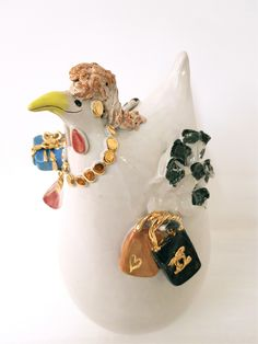 Handgefertigtes Unikat aus Keramik, Crazy Chick, Dekoration, Garten Home Decor, Lawn And Garden, Dekoration, Decoration Home, Room Decor, Home Interior Design, Home Decoration, Interior Design