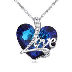 #Soufeel - #Soufeel Austrian Crystal Deep Love Necklace - AdoreWe.com