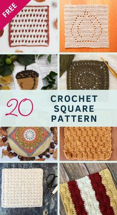 Crochet Square Blanket, Free Crochet Square, All Free Crochet, Crochet Squares, Crochet Square Patterns, Crochet Stitches, Knitting For Kids, Free Knitting, Charity