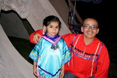 Jingle dress and Native American boy's ribbon shirt by Deb.