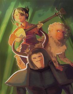Kubo and the Two Strings - Kubo, Monkey and Beetle