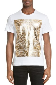 Versace Jeans Large Box Foil Print T-Shirt available at #Nordstrom