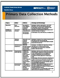advantages of primary data collection methods