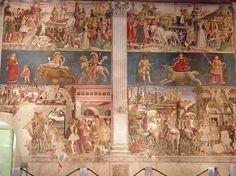 Frescos del Palazzo Schifanoia, Ferrara by jrgcastro magnificent. Palazzo, Roman Gods, Italian Art, Renaissance, Italy, Illustration, Painting, Cloths, Cities