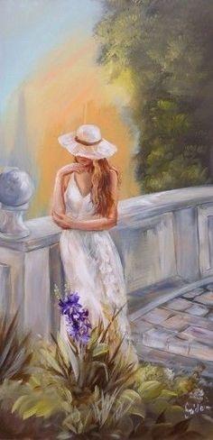 Szidónia festőművész Romantikus kert V. Art Drawings Sketches Simple, Fantastic Art, Beautiful Paintings, Painting Inspiration, Female Art, Cute Art, Watercolor Paintings, Art Photography, Illustration Art