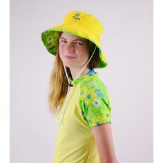863d46b2 FLORAL BUCKET HAT by TUGA Sun Protective and Super Vibrant Girl's  Reversible Bucket Hat with Wide Brim in KIWI