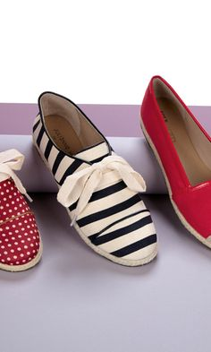 Striped shoes for spring //