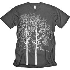 TWO TREES Tshirt FOREST Graphic Tee American by CritterJitters (for James)