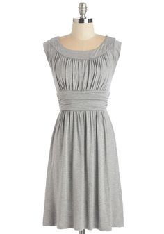 I Love Your Dress in Stone. You'll feel plenty of adoration while wearing this heathered grey dress! #grey #modcloth