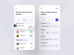 Project Management Mobile App designed by Nasim for Ofspace Team. Connect with them on Dribbble; the global community for designers and creative professionals. App Ui Design, Mobile App Design, Interface Design, User Interface, Web Design, Flat Design, Design Layouts, Graphic Design, Design Thinking