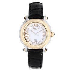 Chopard Lady's Stainless Steel and Yellow Gold Happy Sport Wristwatch