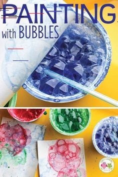Looking for new art activities for kids? Bubble painting is a fun process art activity for your kids in preschool, pre-k and kindergarten classroom. Check out these tips and tricks. There are many opportunities to explore and experiment.a fun opportu Toddler Crafts, Preschool Crafts, Diy Crafts For Kids, Painting Crafts For Kids, Summer Crafts For Preschoolers, Science Crafts For Kids, Preschool Art Projects, Classroom Art Projects, Fun Arts And Crafts