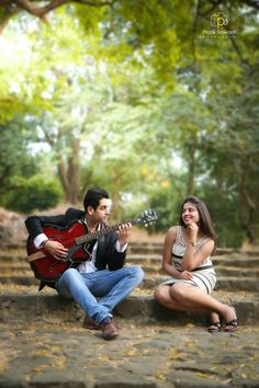 No matter how bad you sing, sing for her she will smile. summer romance with guitar boy Nitesh Jagwani playing guitar for girl Ruchita Thawani Jagwani